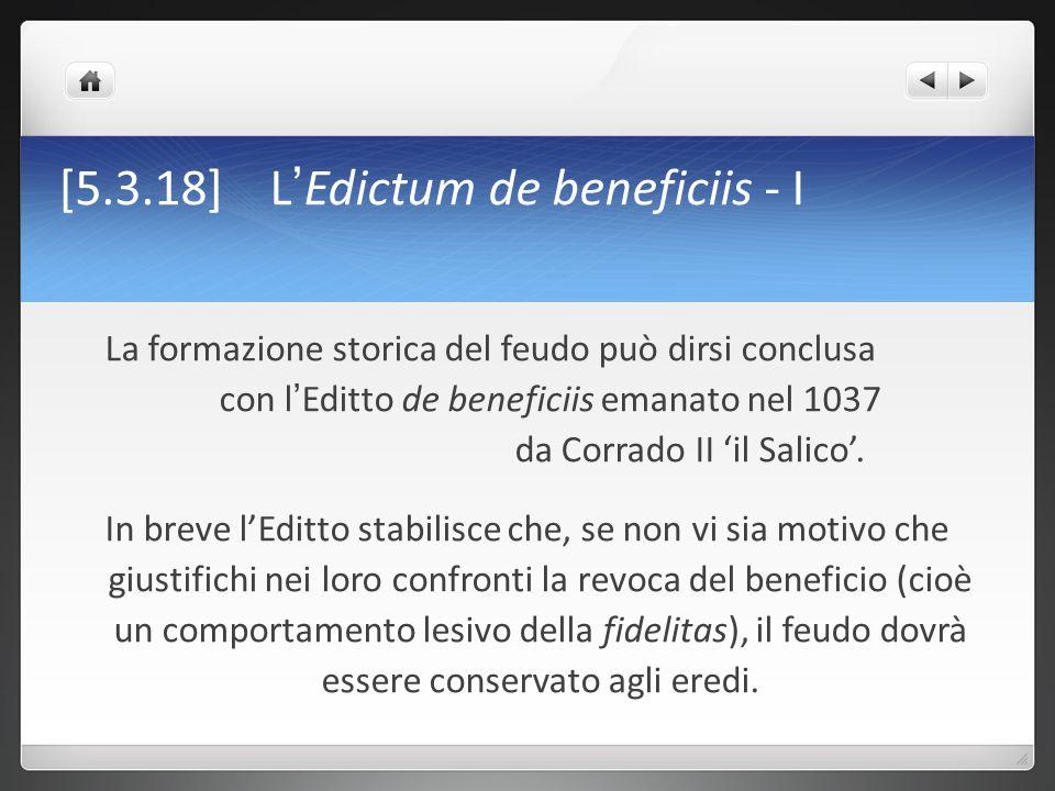 [5.3.18] L'Edictum de beneficiis - I